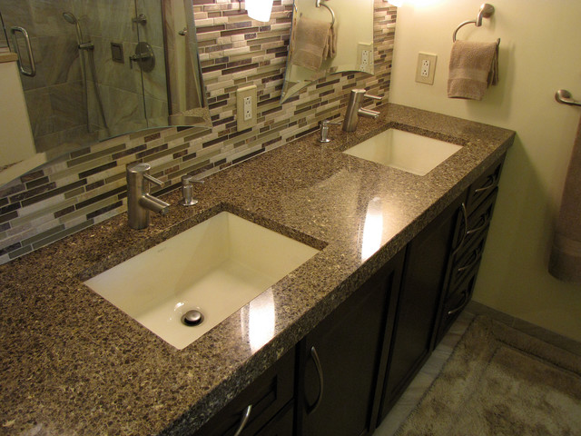 Master Bath Remod Vanity Tops And Side Splashes Detroit By Solid Surfac