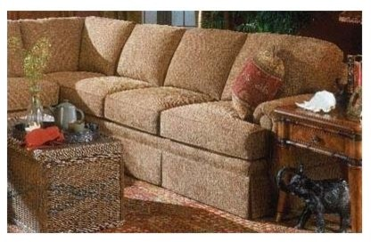 Right Arm Corner Sofa (Fabric: Amber) traditional-sofas