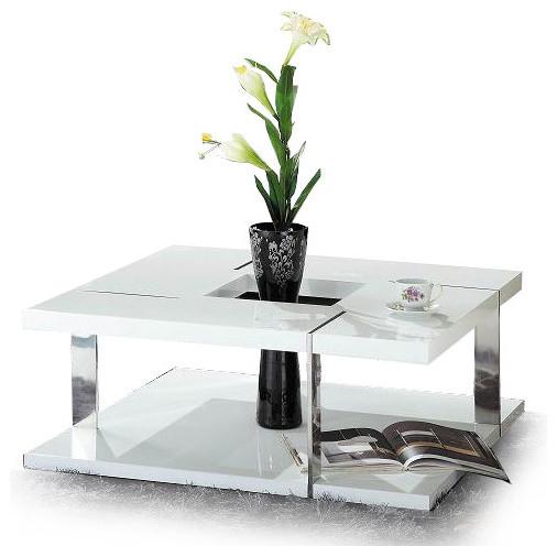 modern glossy white coffee table oshu modern coffee