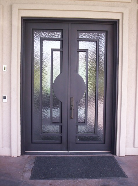 Contemporary Iron Door - Contemporary - Windows And Doors - dallas - by Elegante Iron, Inc.