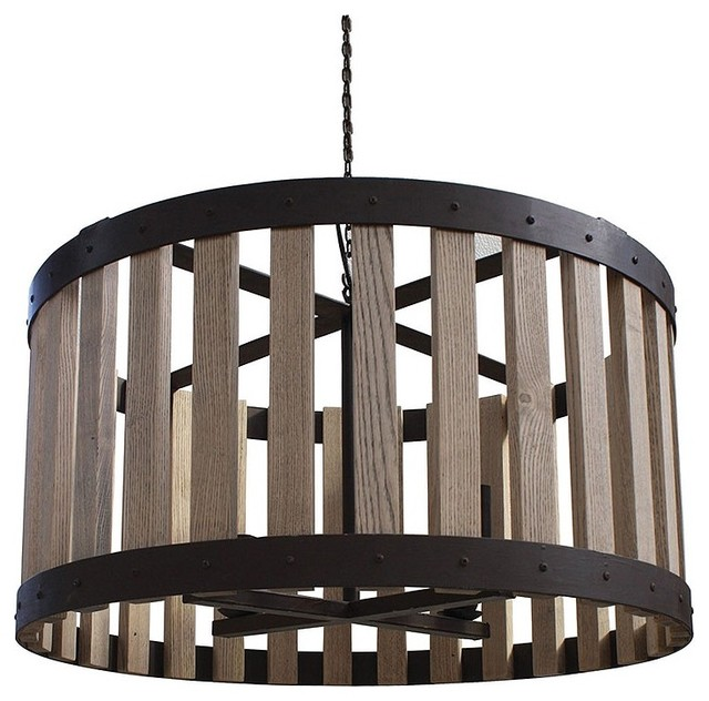 Bordeaux 30 Wine Barrel Drum Chandelier eclectic chandeliers