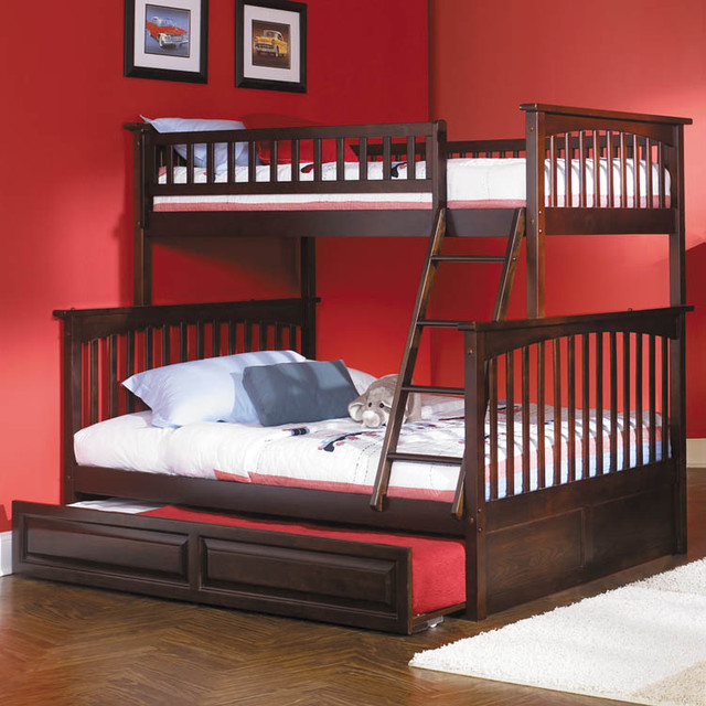 Columbia twin over full bunk bed modern kids beds by for Modern bunk beds for kids