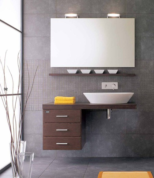 La Dimora Design modern powder room