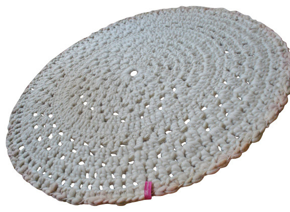 NERINA - Pure Wool Crochet Rug farmhouse-rugs