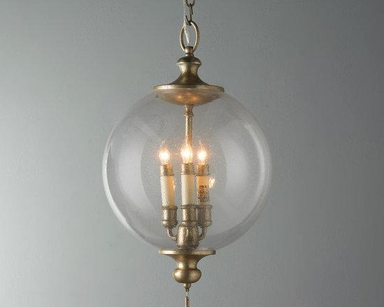 Clear Glass Globe Pendant -