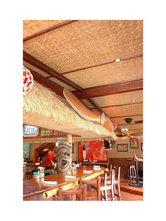 Decorative Boards - Bamboo Skin Board is best used for interior applications such as wainscots trimmed off with a bamboo chair rail, door and ceiling coverings, cupboard and cabinet fronts, or counter tops set in clear resin; colors vary in shades of tan, green and beige.