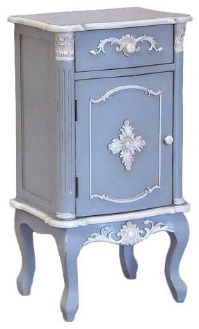 Shabby Chic French Blue Bedside Table traditional-nightstands-and-bedside-tables