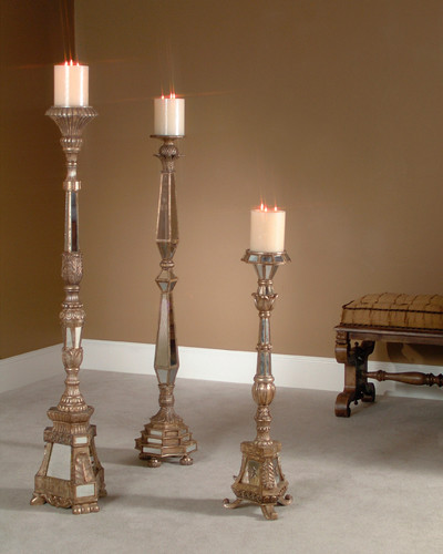 John Richard 40/55/60'' Mirr C/Stck S/3 traditional-candles-and-candle-holders