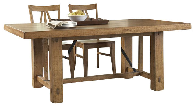 Dining Table In Canby Rustic Pine Traditional Dining Tables By
