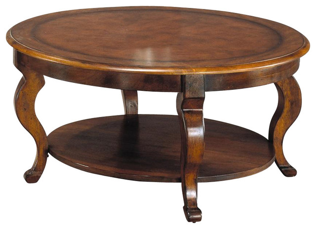 Round Cocktail Table W Shelf In Mahogany Fini Contemporary Coffee Tables By Ivgstores