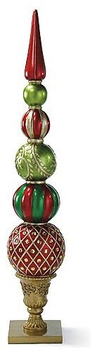 Stacking ball finial outdoor christmas decorations Traditional outdoor christmas decorations