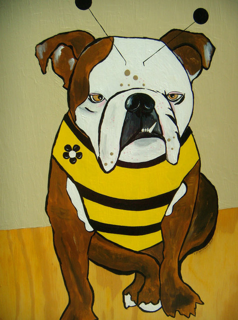 Large Custom Pet Portrait by Cabin + Moss eclectic-artwork