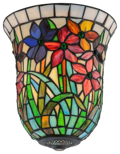 Meyda Tiffany 11 Quot W Spring Bouquet Replacement Shade X 64703 Contemporary Lighting Globes And Shades By Arcadian Home Amp Lighting