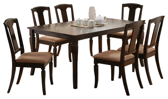 Canterbury Madison 7-Piece Dining Room Set in Country Brown traditional-dining-sets