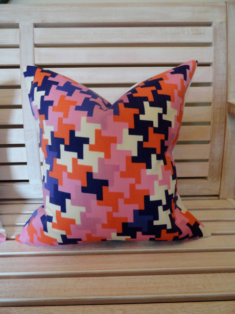 Designer Trina Turk For Schumacher, Jax Print Pillow Cover By Lil and Gaines contemporary pillows