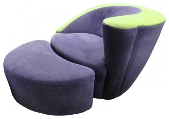 Armchair and Ottoman by Vladimir Kagan midcentury-accent-chairs