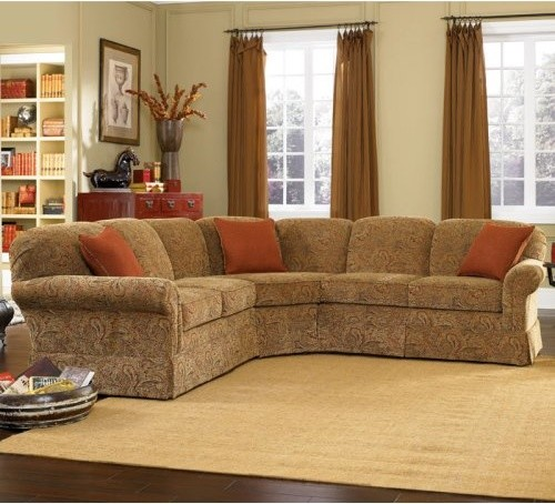 Charles schneider kelsey bittersweet fabric sectional sofa for Traditional sectional