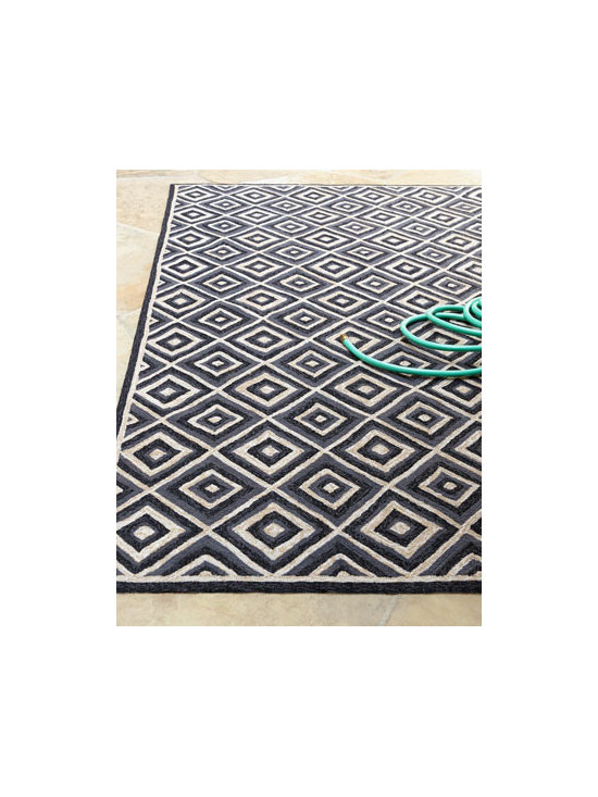 Horchow - 'Diamonds Galore' Outdoor Rug - Pull your patio decor together with this gorgeous diamond print outdoor rug. It's a great way to achieve a cohesive look.