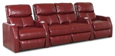 Klaussner Ambassador Home Theater Group - Red modern-cable-management