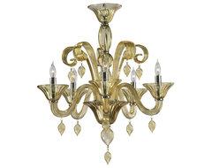 Cyan Design Treviso 5 Light Chandelier Light, Amber traditional-chandeliers