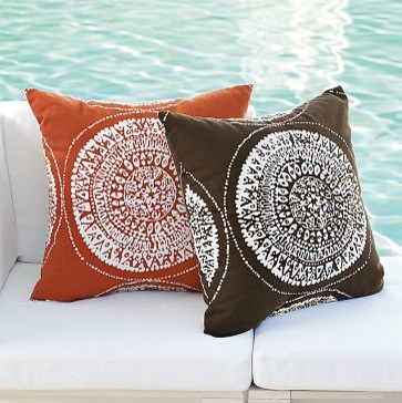 Sundial Outdoor Pillow | west elm - eclectic - outdoor pillows