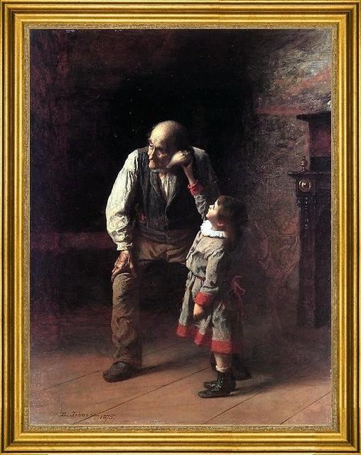 "Eastman Johnson-18""x24"" Framed Canvas traditional-artwork"