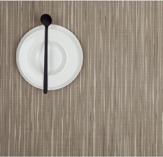 Chilewich Rectangle Rib Weave Placemat - Coconut, Set of Four contemporary-placemats
