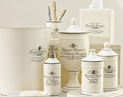 Black & White Apothecary Bath Accessories traditional-bath-and-spa-accessories