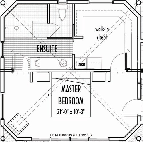 Master bathroom floor plans with walk in closet - photo#14
