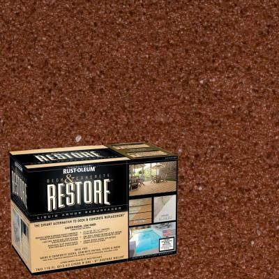 Deck Stain: 2-gal. Navajo Red Deck and Concrete Resurfacer 46039 ...
