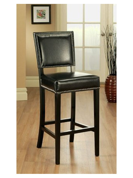 Abbyson Living - Abbyson Living Mercer Brown Bar Stool Bicast Leather -