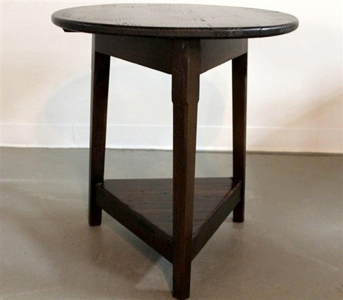 Pine English Cricket End Table with Espresso Finish farmhouse-side-tables-and-end-tables