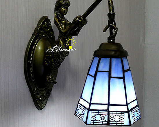 Med Style Iron Art and Glass Wall Sconce in Painted Finish - Med Style Iron Art and Glass Wall Sconce in Painted Finish