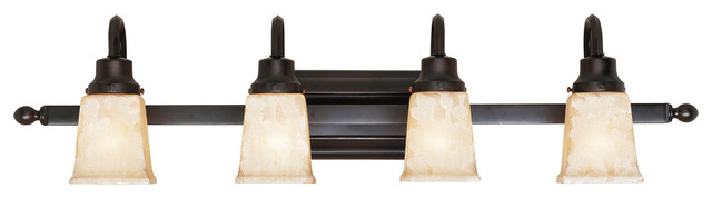 Belle Foret Model Bathgate Bath Collection - BF2604 4 Light Sconce  bathroom lighting and vanity lighting