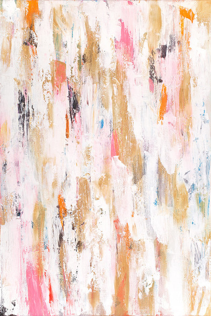 'Zoey' Abstract Print of Painting by Parima Creative Studio contemporary-prints-and-posters