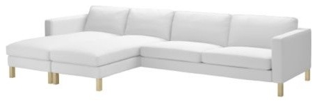 Karlstad 2 chaise lounges sofa scandinavian for Couch with 2 chaise lounges
