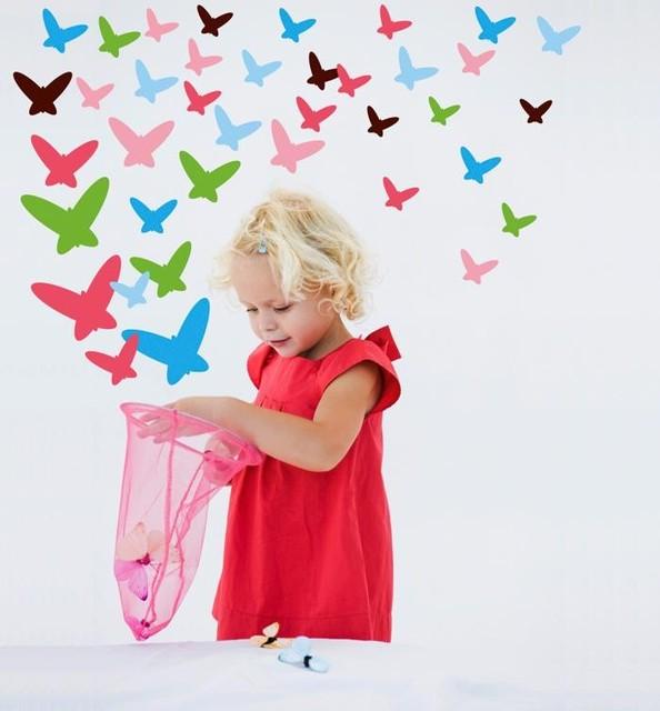 Wallcandy Arts Flutterflies Decal modern-kids-decor