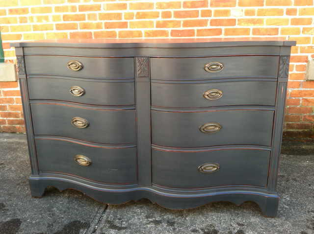 Custom Painted Dressers Antique Black Eclectic Providence By Kingston Krafts