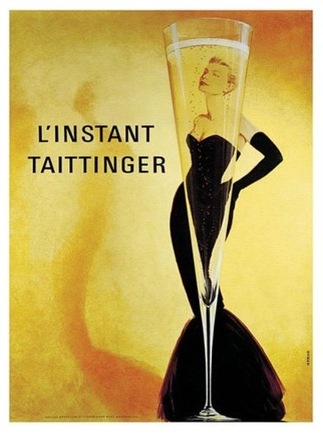 Taittinger Wrapped Giclee Canvas Print - 36W x 48H in. traditional-artwork