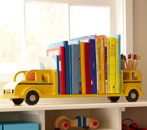 School Bus Bookends modern kids decor
