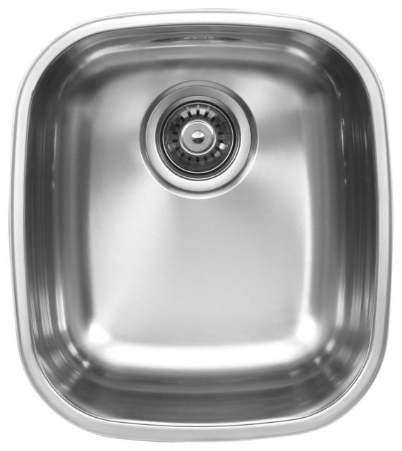 Ukinox D345.10 Single Bowl Under mount Sink contemporary-kitchen-sinks