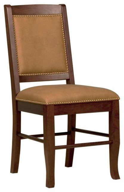 Contemporary Sydney Nubuck Upholstery Brown Dining Chair contemporary-dining-chairs