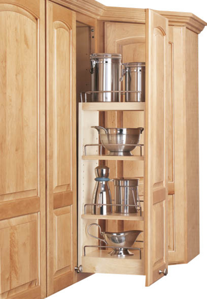 Rev a shelf 448 wc 5c 5 wall cabinet pullout organizer w for Kitchen cabinets 9 inch