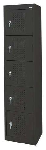 Sandusky Lee Welded Steel Storage Locker, Black traditional-storage-and-organization