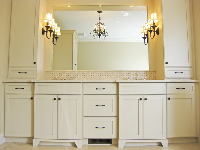 Master Bathroom Double Vanity with Towers - Traditional - charleston - by Sea Island Builders LLC