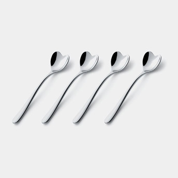 Alessi Il Caffe Alessi Heart Coffee Spoon Set modern flatware