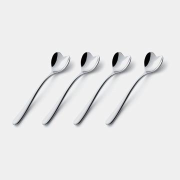 Alessi Il Caffe Alessi Heart Coffee Spoon Set modern-flatware