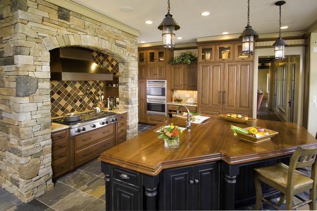 Grothouse Sapele Mahogany Island Wood Countertop traditional-kitchen-countertops