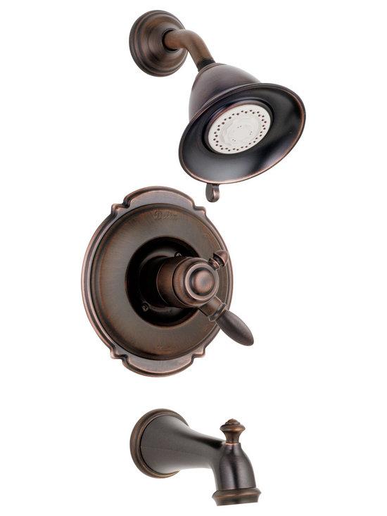 Delta - Victorian Monitor 17 Series Scald-Guard Tub and Shower Trim - Delta T17455-RB Victorian Monitor 17 Series Scald-Guard Tub and Shower Trim with Volume Control, Multi Function Showerhead and Diverter Tub Spout in Venetian Bronze.