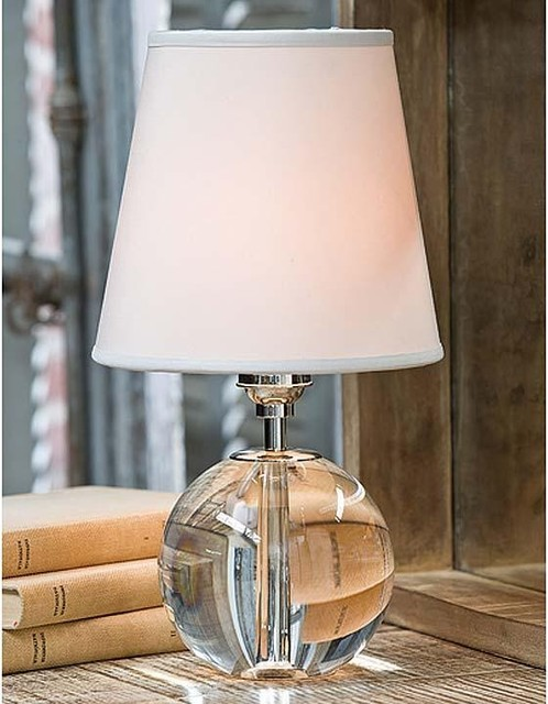 regina andrew crystal mini orb table lamp traditional table lamps. Black Bedroom Furniture Sets. Home Design Ideas